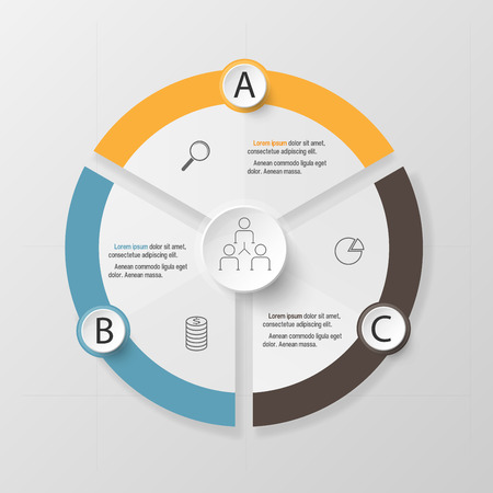 Infographic design template and marketing icons, Business concept with 3 options 矢量图像
