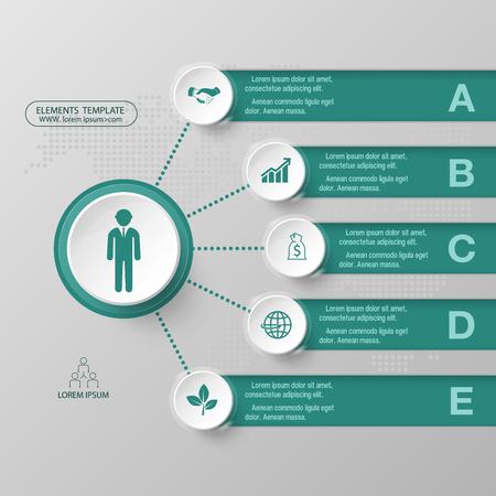 Moderne infographics Geschäftsdesign-Wahlfahne Auch im corel abgehobenen Betrag. Vektorgrafik