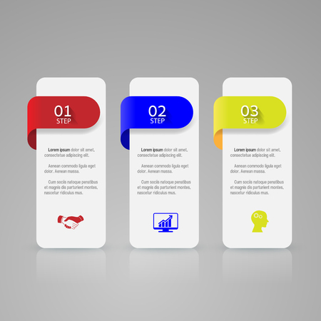 layout design template: Infographic design template and marketing icons. Illustration