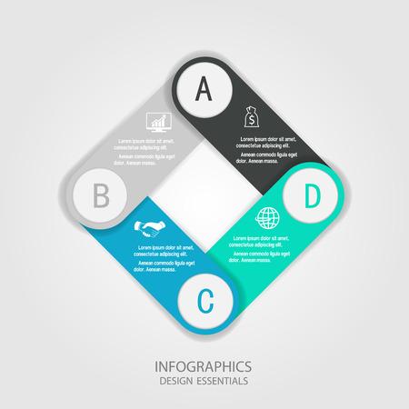 modern business: Modern infographics business design options banner.Vector illustration.