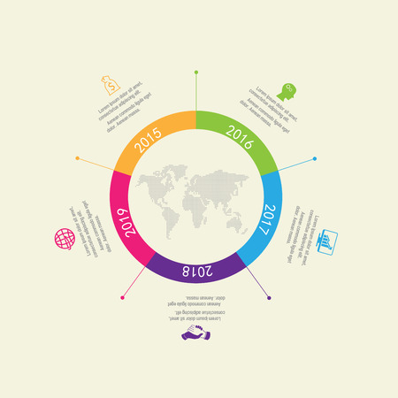 Time line infographic and icons vector design template. Vector Illustration
