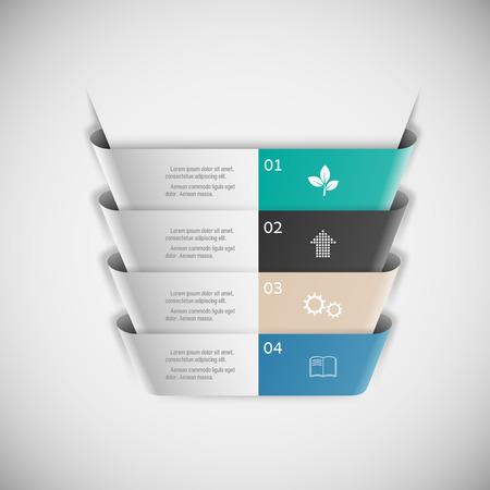 modern business: Modern infographics business design options . Illustration