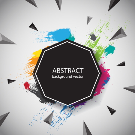 Geometric background Abstract explosion . Vector illustration 向量圖像