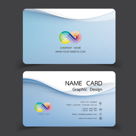 Business card design set.