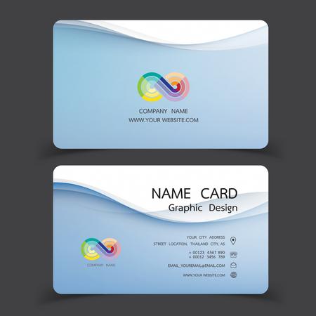 Business card design set.