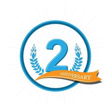Anniversary celebration of numbers background. vector illustration Illustration