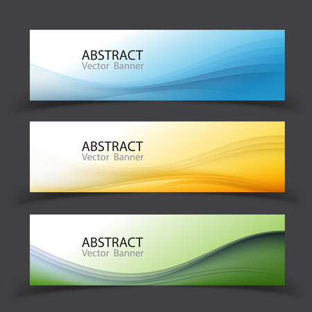 Vector abstract design banner template.Perfect background design for headline and sale banner.blue and green waved lines for brochure, website, flyer design. Transparent wave.