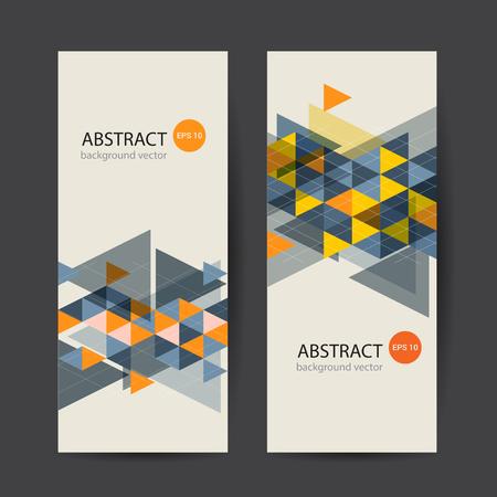 Banner colorido dinámico abstracto. Ilustración de vector.