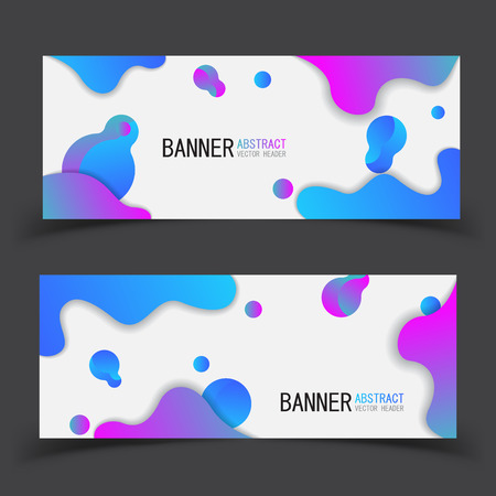 Banner future geometric patterns. Eps10 vector. Perfect background design for headline and sale banner.