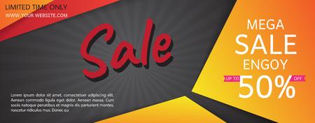 Black Friday sale posters vector. Black friday sale banner, special offer shopping illustration Ilustração