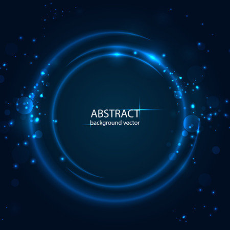 Vector abstract blue motion light effect background.For business, science, technology design. Ilustração