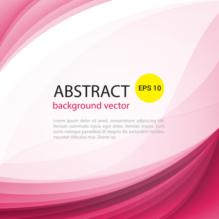 Abstract light vector pink waves background. Perfect background design for headline and sale banner.