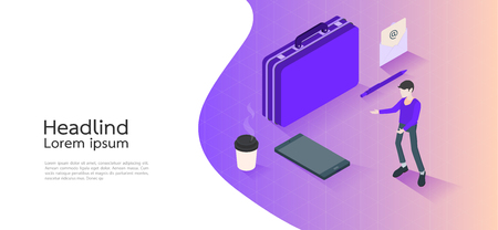 Modern design isometric concept business. infographic elements. Vector illustration.