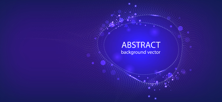 Vector abstract blue motion light effect background.For business, science, technology design. 矢量图像