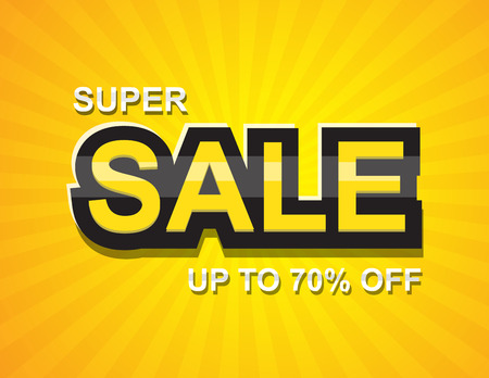 Sale posters vector. Black friday sale banner, special offer shopping illustration
