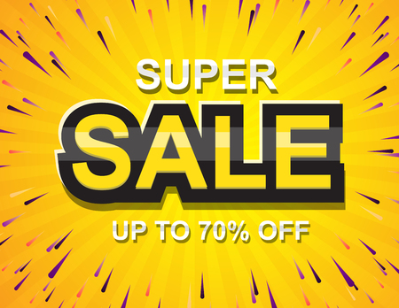 Sale posters vector. special offer shopping illustration 矢量图像