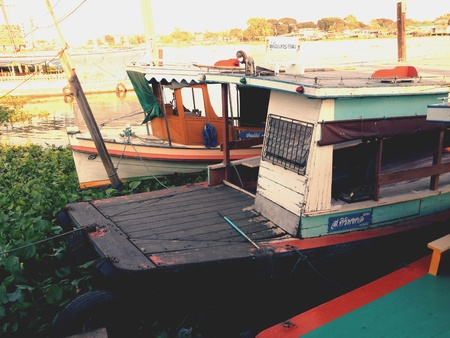 view: Colorful boat