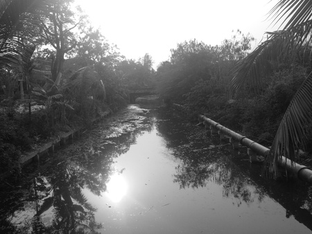 view: Canal near road