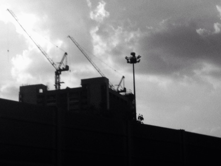 view: Underconstruction building