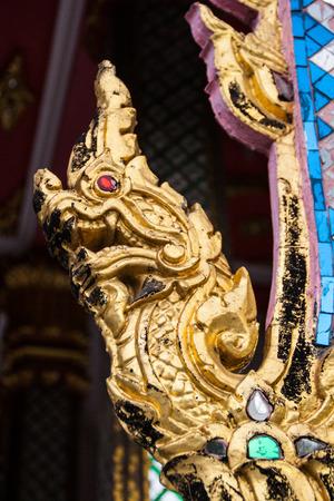 naga china: Golden King of Naga statue