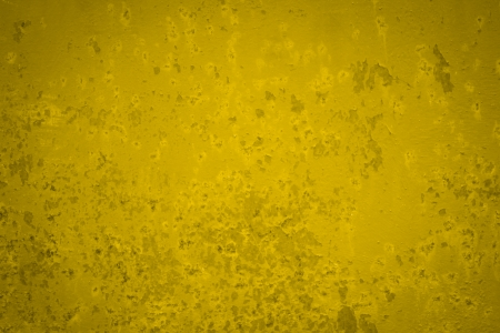 vignetting: Yellow rusted metal vintage background and vignetting