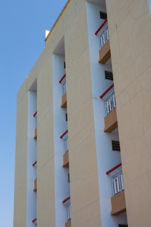 buliding: Apartment and blue sky day
