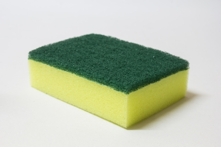 Two side sponge on white background photo