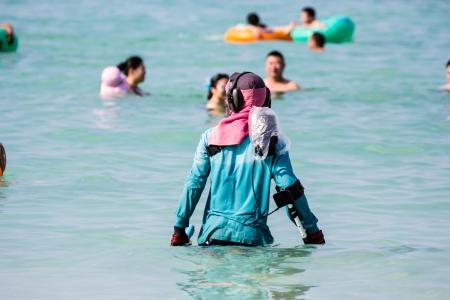 gaurd: Life gaurd working in seaside