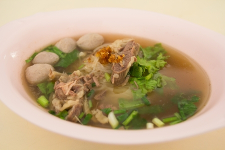 A bow of Beef Stew Noodle Soup photo