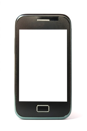 Mobile phone isolated on white background photo