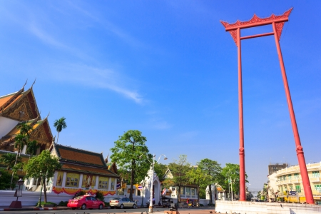 Giant swing ,Suthat Temple in Bangkok, Thailand