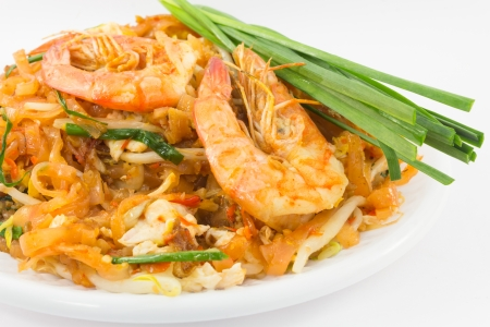 Thailand's national dishes, stir-fried rice noodles (Pad Thai) photo