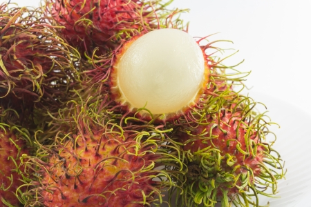 Rambutan isolated on white background photo