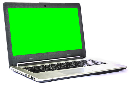 Laptop computer isolated on white background photo