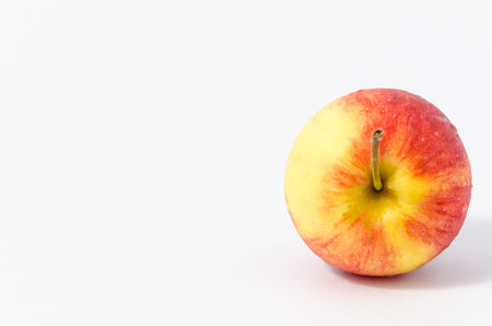 waterdrop: Isolated of fresh apple with waterdrop on white background