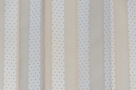 Close up of Pearl white window curtain