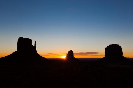 Sunrise at Monument Valley, Utah. Stok Fotoğraf