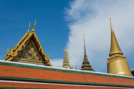 Sunny day in Wat Pra Kaew Bangkok  Thailand photo