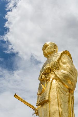 handsign: Buddha statue in Nakhon Ratchasima Thailand Wat Ban rai temple