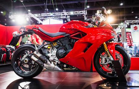 BANGKOK - AUGUST 21, 2017 : ducati supersport on display at Bangkok International Grand Motor Sale 2017(Big Motor Sale) in Bangkok, Thailand Editorial
