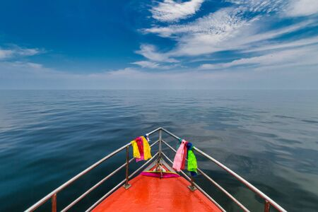 Single Boat In The Middle Of Sea