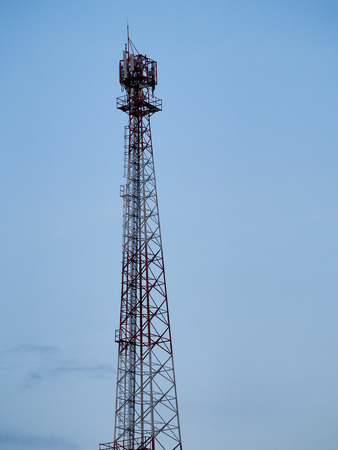 communication Tower with sky background