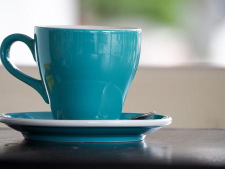 Coffee cup in coffee shop Reklamní fotografie - 103524731