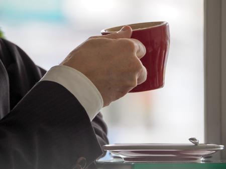 man drinking coffee Stockfoto