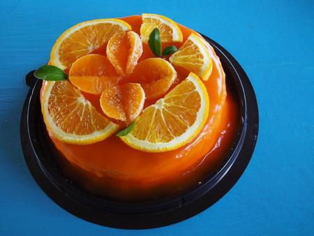 Orange Cake with orange topping Stockfoto