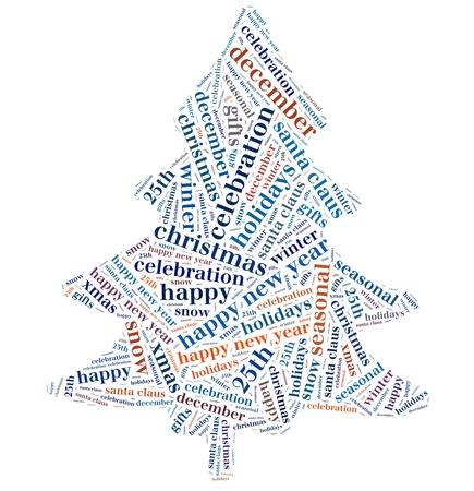Christmas info-text graphics and arrangement concept