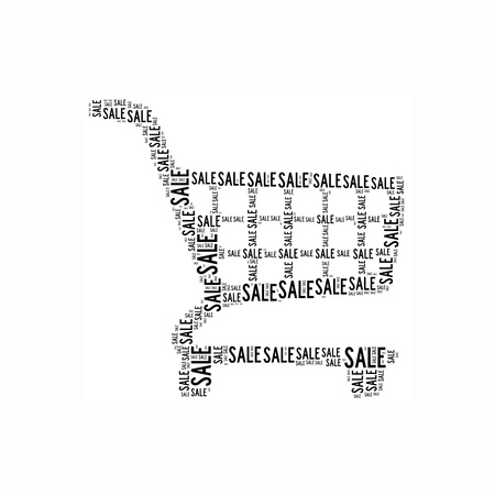 Shopping info-text graphics and arrangement concept