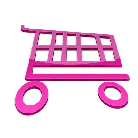Shopping basket icon illustration isolated on white background