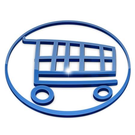 Shopping basket icon illustration isolated on white background