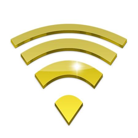 3d wifi icon isolated on white background Stock Photo